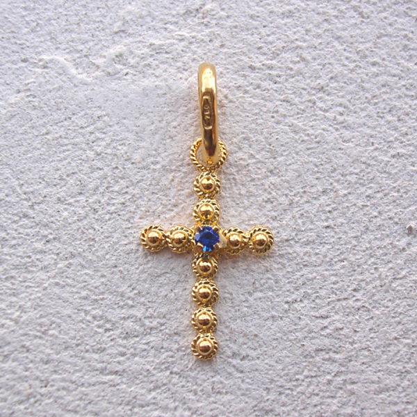 ART 105 - Croce con pietra in filigrana