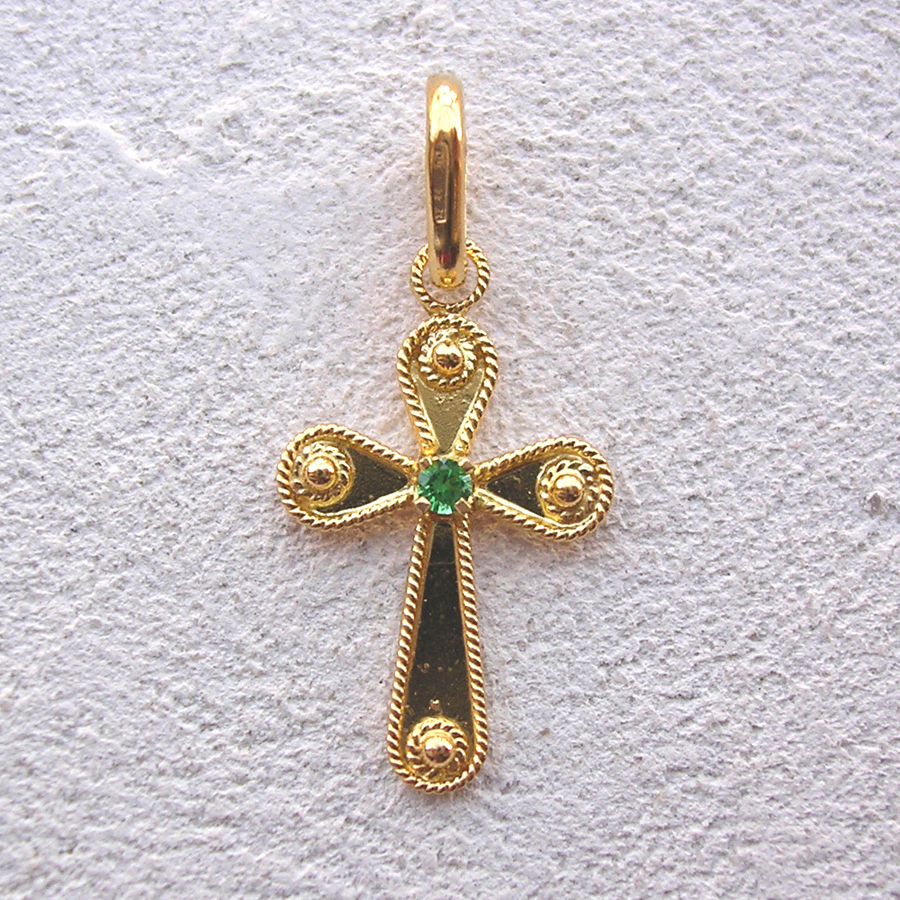 ART 107 - Croce d'oro in filigrana