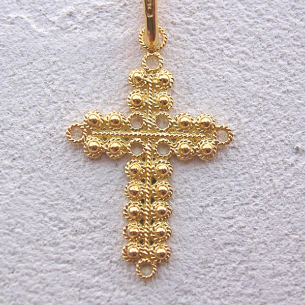 ART 108 - Croce d'oro in filigrana - Dettaglio