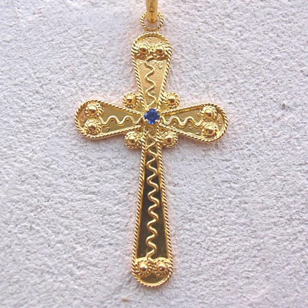 ART 111 - Croce d' oro in filigrana - Dettaglio