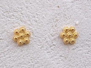 ART 302 - Orecchini d'oro in filigrana