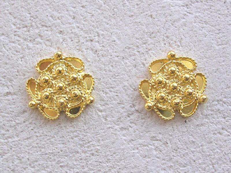 ART 303 - Orecchini d'oro in filigrana