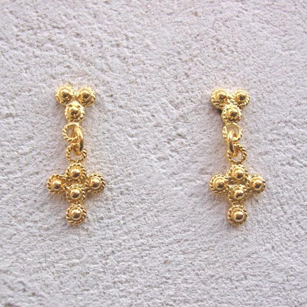 ART 305 - Orecchini d'oro in filigrana