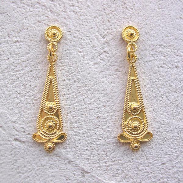 ART 309 - Orecchini d'oro in filigrana