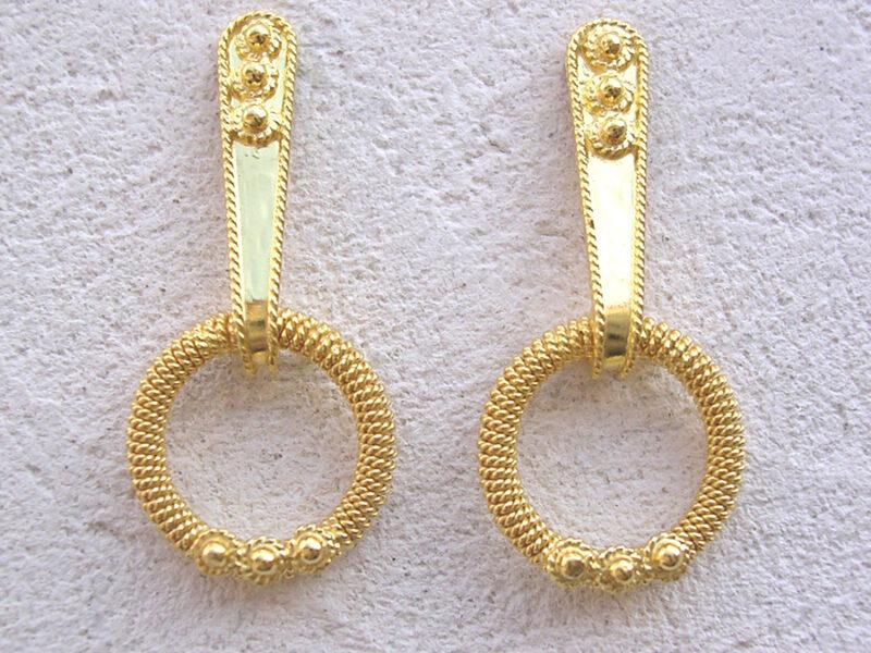 ART 310 - Orecchini d'oro in filigrana