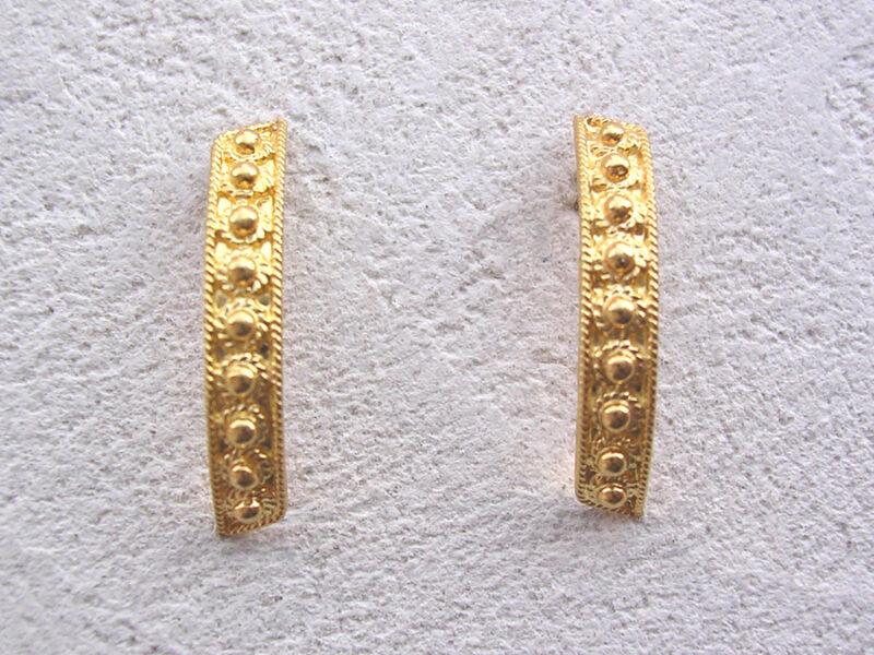 ART 312 - Orecchini d'oro in filigrana