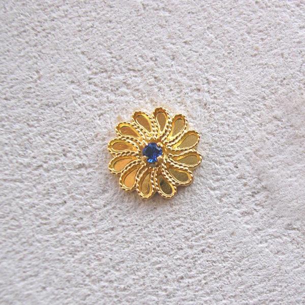 ART 319 - Orecchini d'oro in filigrana con pietra - Dettaglio