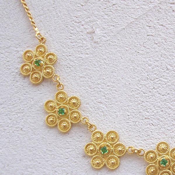 ART 411 - Collier d' oro in filigrana - Dettaglio
