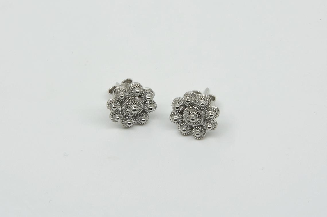 """Orecchini argento 925 realizzato a mano """"Rodiato"""""""