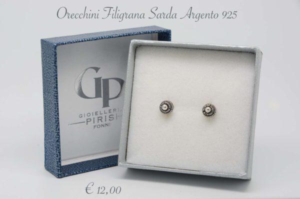 Orecchini Argento 925 PL Brunito